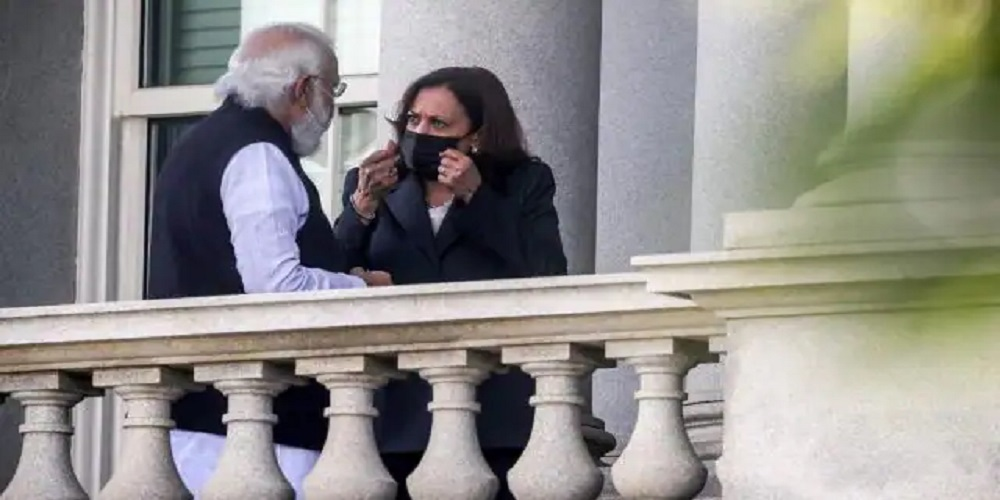 PM Modi and Kamala Harris met